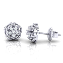 Load image into Gallery viewer, 18Kt white gold real diamond stud earring 53(3) by diamtrendz