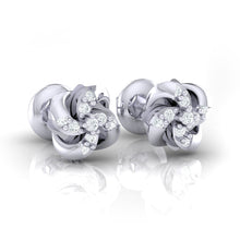 Load image into Gallery viewer, 18Kt white gold real diamond stud earring 54(1) by diamtrendz