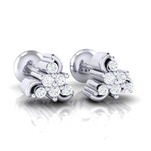 Load image into Gallery viewer, 18Kt white gold real diamond stud earring 55(1) by diamtrendz