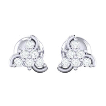 Load image into Gallery viewer, 18Kt white gold real diamond stud earring 55(2) by diamtrendz