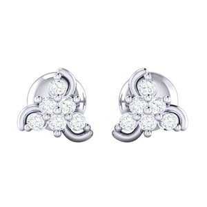 18Kt white gold real diamond stud earring 55(2) by diamtrendz