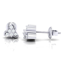 Load image into Gallery viewer, 18Kt white gold real diamond stud earring 55(3) by diamtrendz