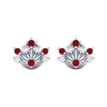 Load image into Gallery viewer, 18Kt white gold real diamond stud earring 56(2) by diamtrendz