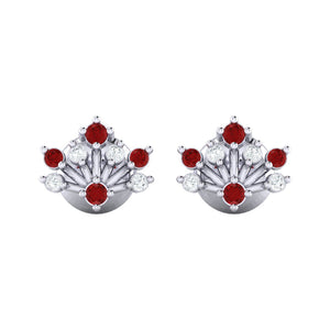 18Kt white gold real diamond stud earring 56(2) by diamtrendz
