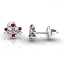Load image into Gallery viewer, 18Kt white gold real diamond stud earring 56(3) by diamtrendz