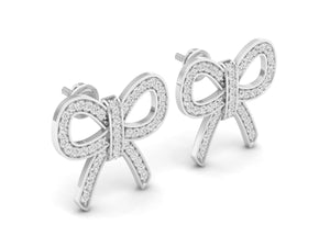 18Kt white gold real diamond earring 5(1) by diamtrendz