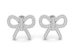 18Kt white gold real diamond earring 5(2) by diamtrendz