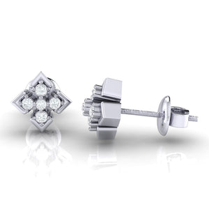 18Kt white gold real diamond earring by diamtrendz