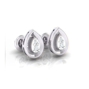 18Kt white gold pear diamond earring by diamtrendz