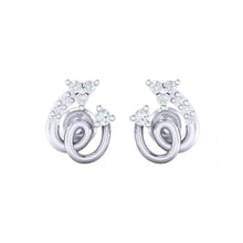 Load image into Gallery viewer, 18Kt white gold spiral diamond earring by diamtrendz