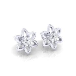 18Kt white gold real diamond earring 8(1) by diamtrendz