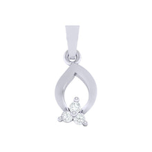 Load image into Gallery viewer, 18Kt white gold real diamond pendant 11(1) by diamtrendz