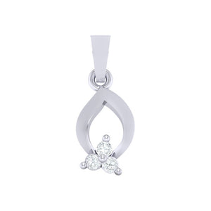 18Kt white gold real diamond pendant 11(1) by diamtrendz