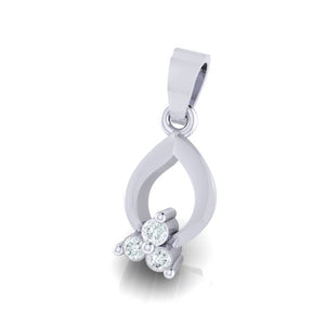 18Kt white gold real diamond pendant 11(2) by diamtrendz