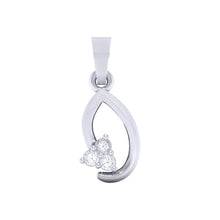 Load image into Gallery viewer, 18Kt white gold real diamond pendant 13(1) by diamtrendz
