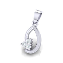 Load image into Gallery viewer, 18Kt white gold real diamond pendant 13(2) by diamtrendz