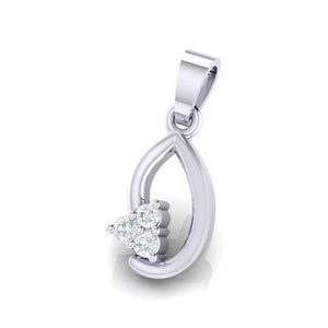 18Kt white gold real diamond pendant 13(2) by diamtrendz
