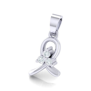 18Kt white gold real diamond pendant 16(2) by diamtrendz
