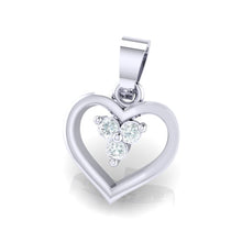 Load image into Gallery viewer, 18Kt white gold heart diamond pendant by diamtrendz