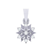 Load image into Gallery viewer, 18Kt white gold star diamond pendant by diamtrendz