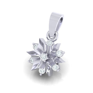 18Kt white gold star diamond pendant by diamtrendz