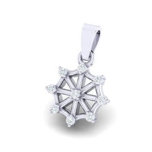 Load image into Gallery viewer, 18Kt white gold wheel diamond pendant by diamtrendz