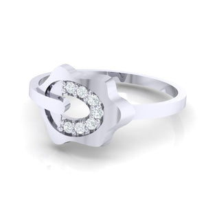 18Kt white gold natural diamond ring by diamtrendz