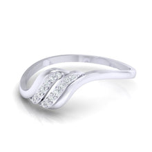 Load image into Gallery viewer, 18Kt white gold natural diamond ring by diamtrendz