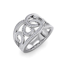 Load image into Gallery viewer, 18Kt white gold designer diamond ring by diamtrendz