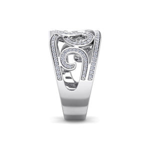 18Kt white gold designer diamond ring by diamtrendz