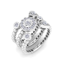 Load image into Gallery viewer, 18Kt white gold designer heart diamond ring by diamtrendz