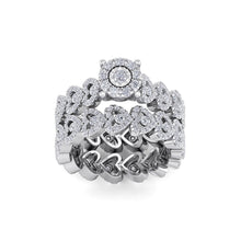 Load image into Gallery viewer, 18Kt white gold designer solitaire diamond ring by diamtrendz