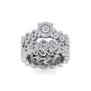 18Kt white gold designer solitaire diamond ring by diamtrendz