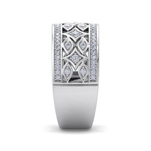18Kt white gold designer band diamond ring by diamtrendz