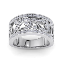 Load image into Gallery viewer, 18Kt white gold designer band diamond ring by diamtrendz