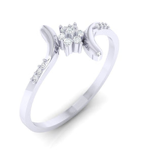 18Kt white gold real diamond ring 25(1) by diamtrendz