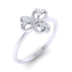 18Kt white gold real diamond ring 26(1) by diamtrendz