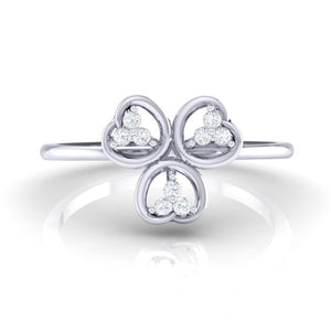 18Kt white gold real diamond ring 26(2) by diamtrendz