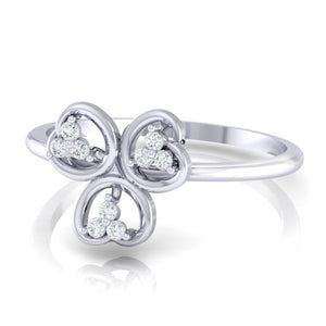 18Kt white gold real diamond ring 26(3) by diamtrendz