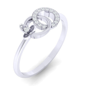 18Kt white gold real diamond ring 27(1) by diamtrendz