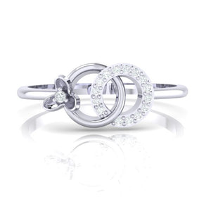 18Kt white gold real diamond ring 27(2) by diamtrendz