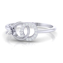 Load image into Gallery viewer, 18Kt white gold real diamond ring 27(3) by diamtrendz