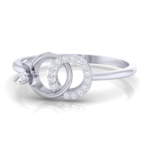 18Kt white gold real diamond ring 27(3) by diamtrendz