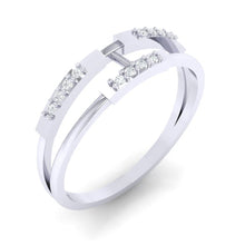 Load image into Gallery viewer, 18Kt white gold real diamond ring 30(1) by diamtrendz