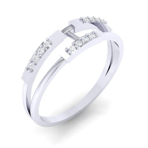 18Kt white gold real diamond ring 30(1) by diamtrendz