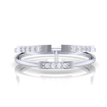 Load image into Gallery viewer, 18Kt white gold real diamond ring 30(2) by diamtrendz