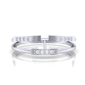18Kt white gold real diamond ring 30(2) by diamtrendz