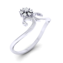 Load image into Gallery viewer, 18Kt white gold real diamond ring 31(1) by diamtrendz