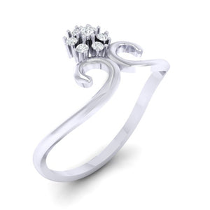 18Kt white gold real diamond ring 31(1) by diamtrendz