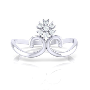 18Kt white gold real diamond ring 31(2) by diamtrendz